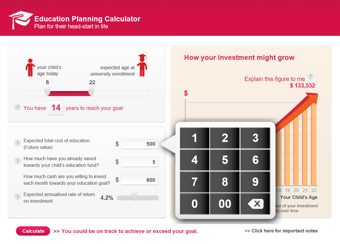 AIA - Education Planning Calculator