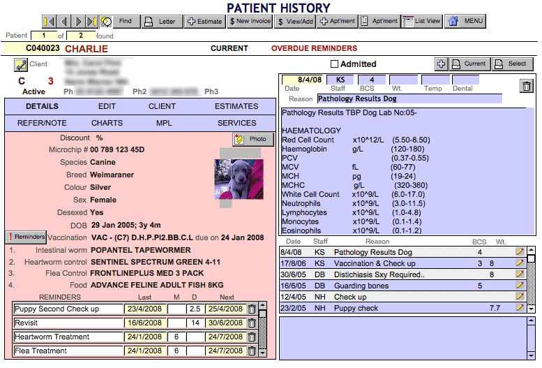 Veterinary Patient Management System